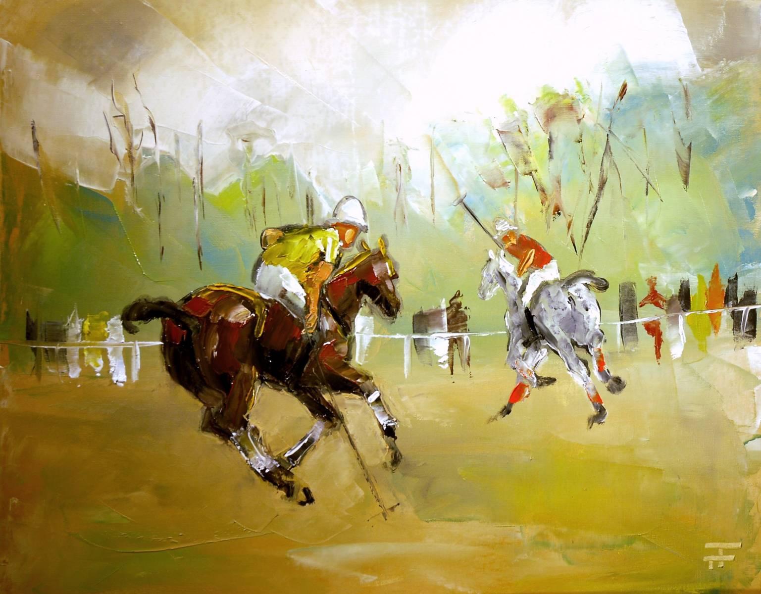 18-05-Polo devant le bois-73X60