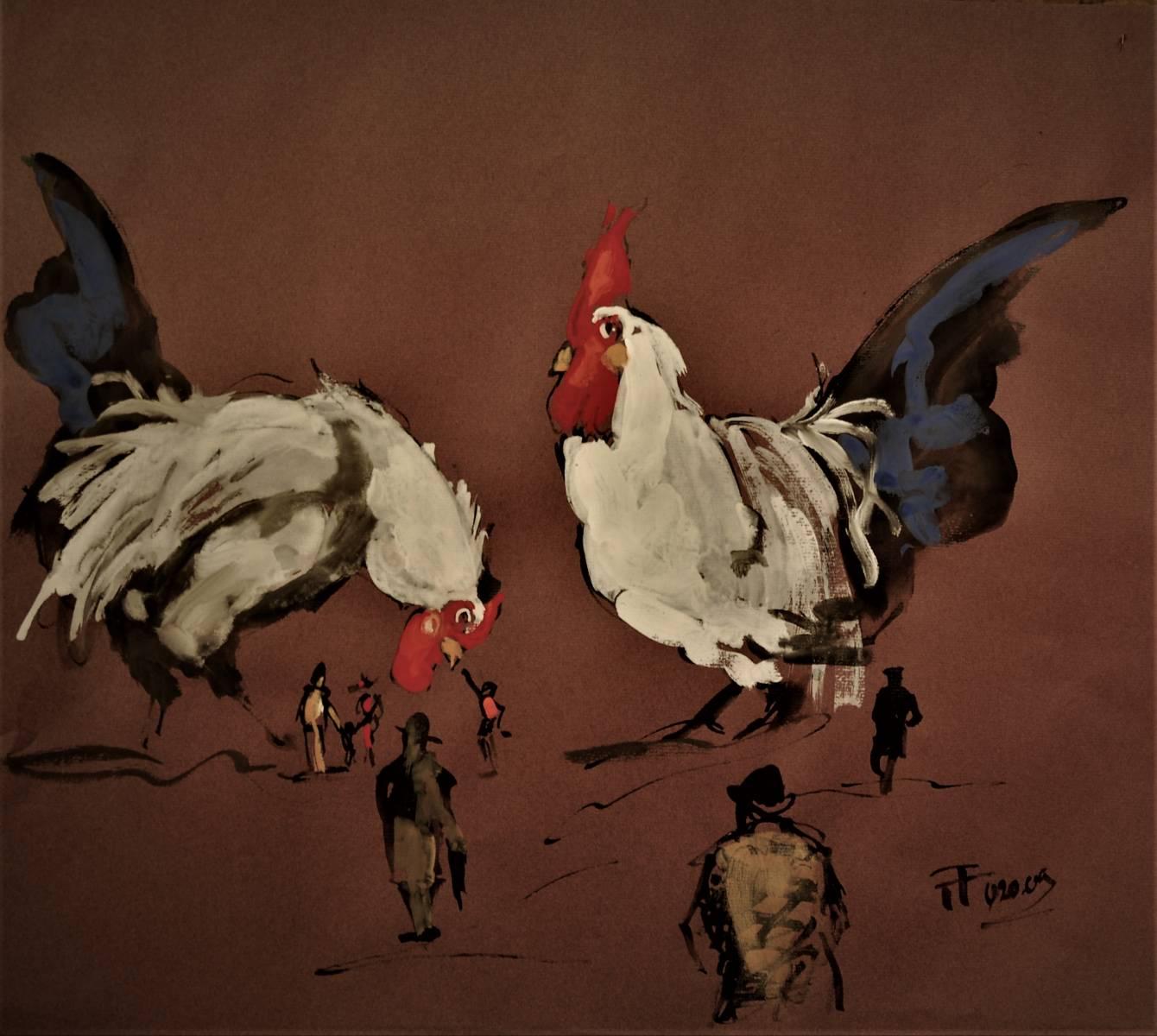 Gouache-20-86-54x50-200€-papier marron