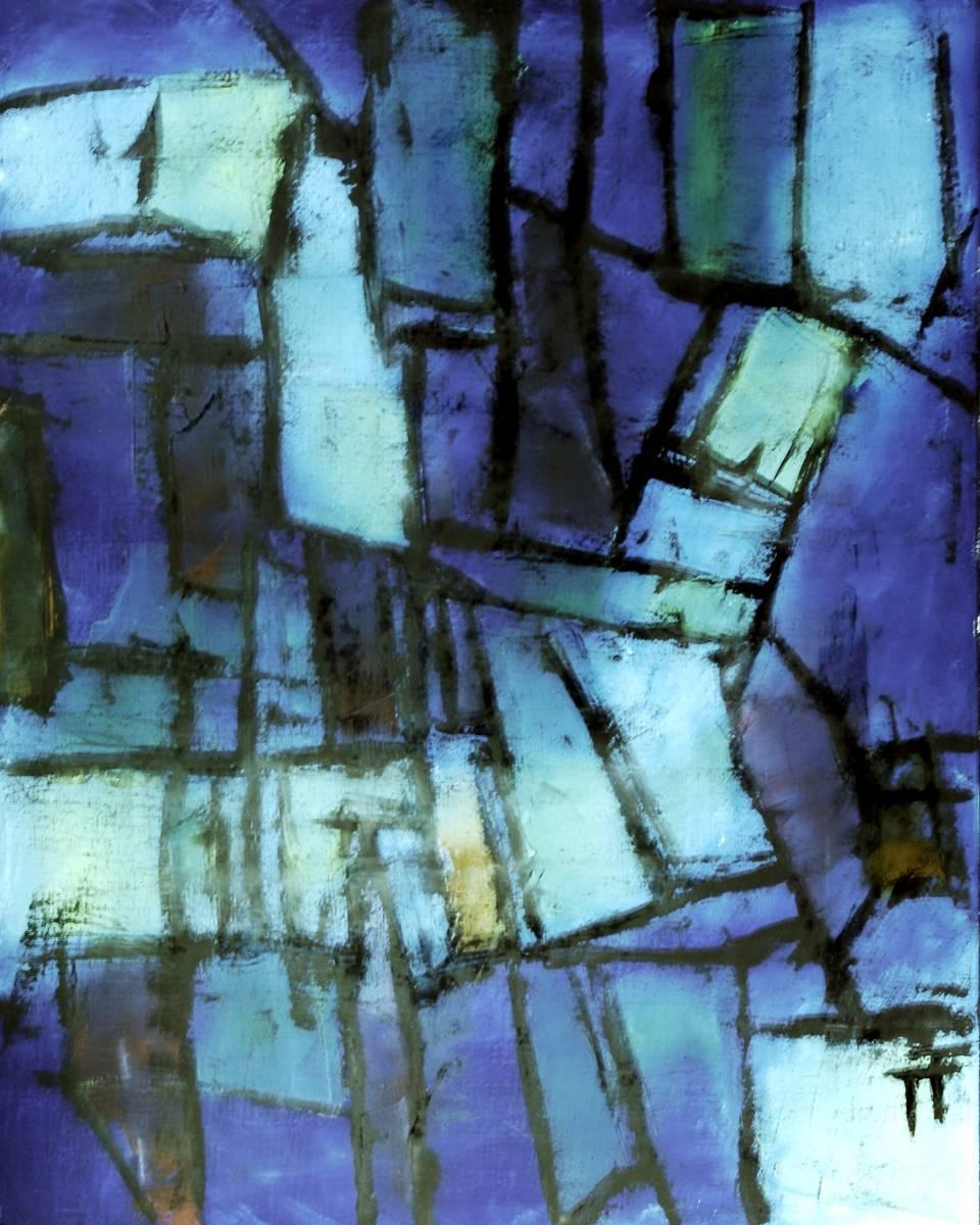 20-93-Pierres noyées-92x73-Huile