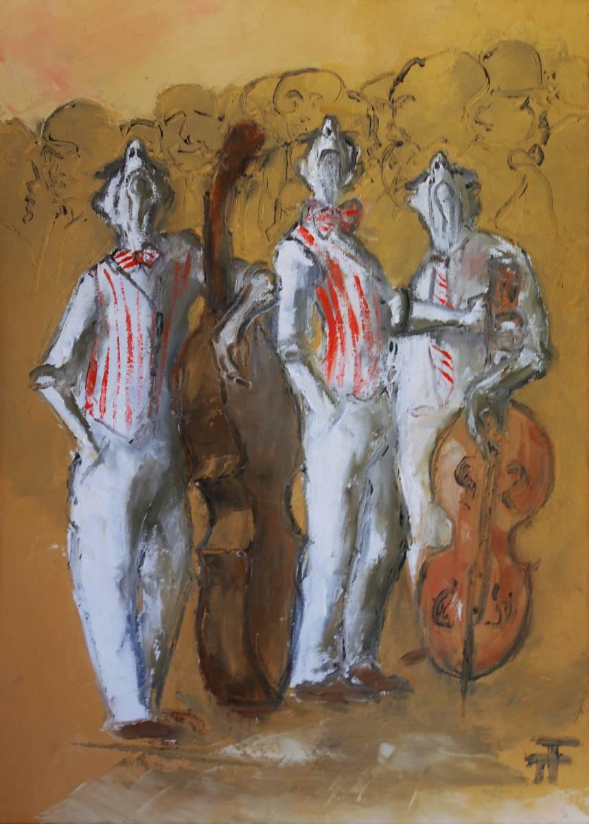 21-02-trio pétard à l'affiche-100 x 73-Huile