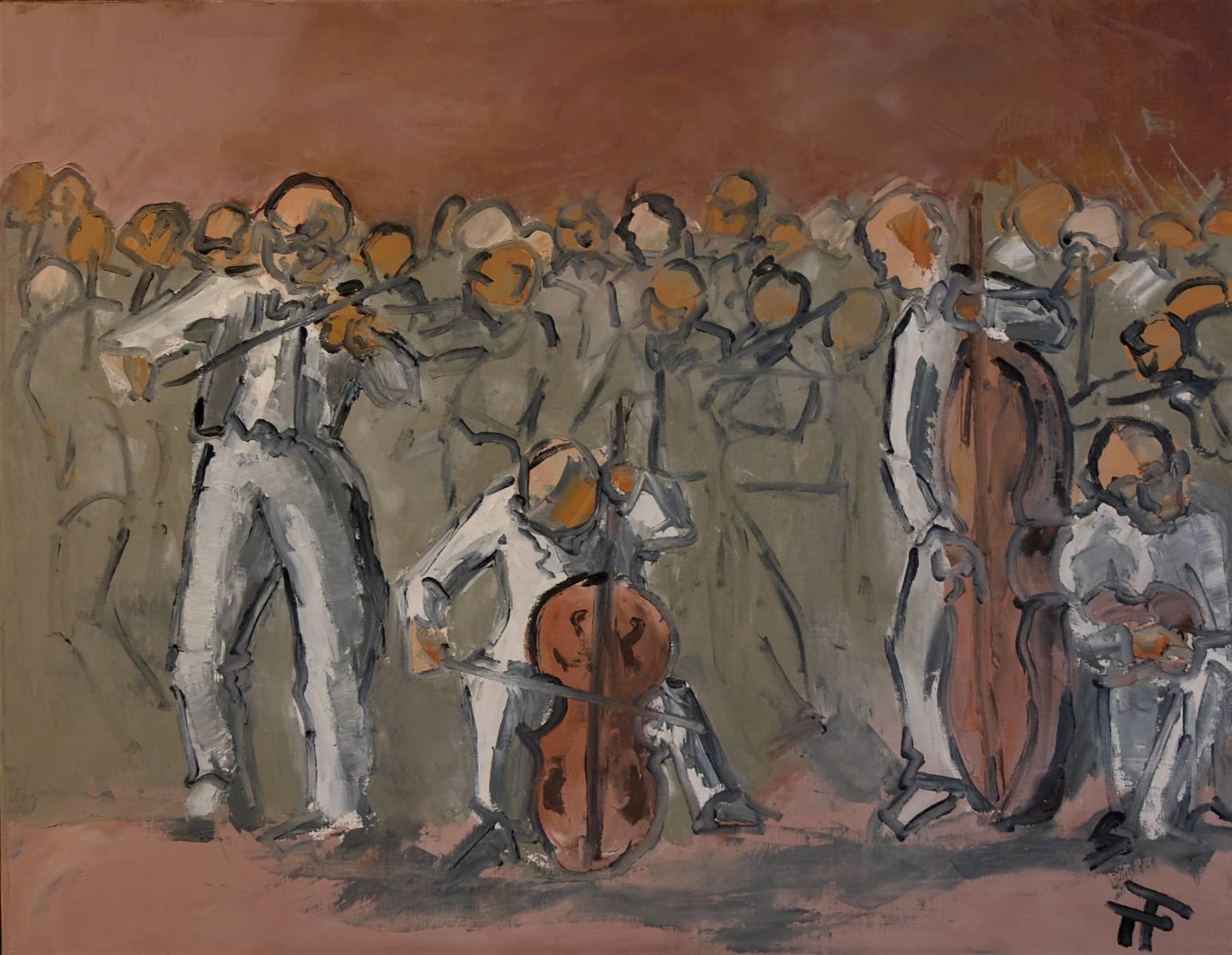 21-06-Quatuor à cordes-92 x 73-huile