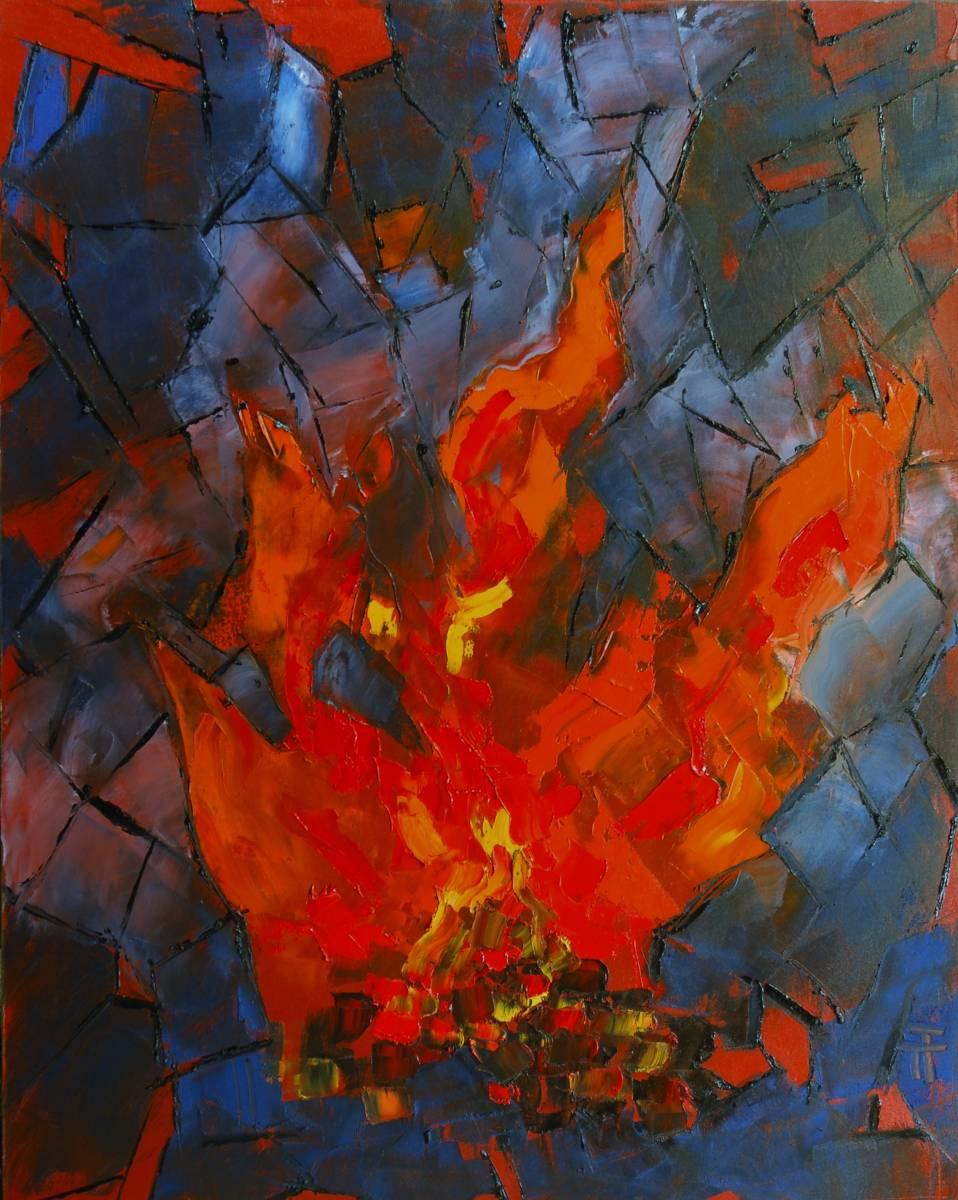 21-36-Le feu de Saint-Jean-92x73-Huile